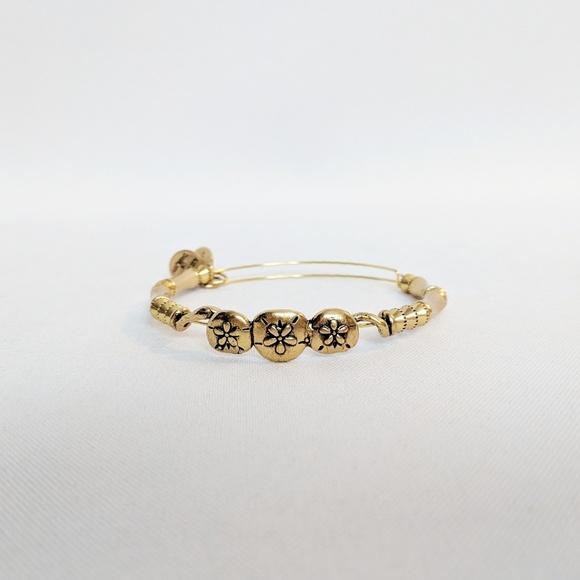 f866e2cd5 Alex and Ani Jewelry | Gold 3 Flower Power Bracelet | Poshmark
